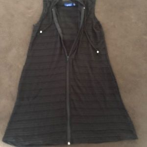 Black Shear Swimsuit Coverup Size Small